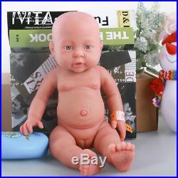 Xmas Gift 16'' Reborn Baby Doll Full Body Silicone Girl Lifelike Baby Toy Infant