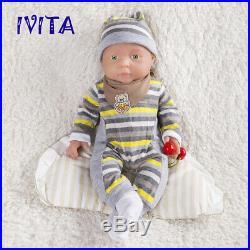 Xmas Gift 16'' Reborn Dolls Realistic Baby Girls Handmade Silicone Toys Newborn